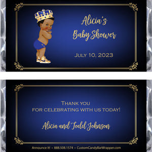 Prince Baby Shower Candy Bar Wrappers