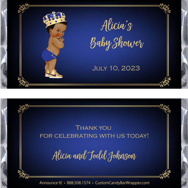 Prince Baby Shower Candy Wrapper