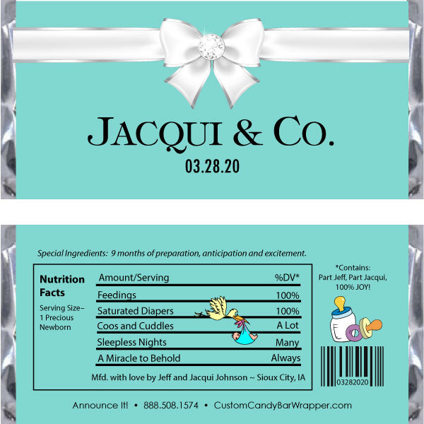 Baby and Co. Shower Candy Bar Wrappers
