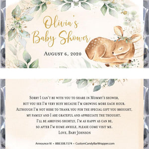 Oh Deer Baby Shower Candy Bar Wrappers