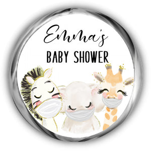 Virtual Baby Shower Kisses Stickers