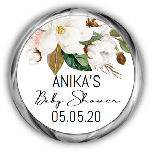 Magnolia Baby Shower Kisses Stickers
