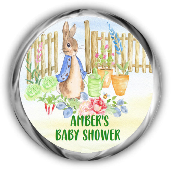 Peter Rabbit Baby Shower Kisses Stickers