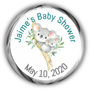 Koala Baby Shower Kisses Stickers