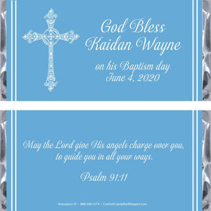 Baptism Cross Candy Bar Wrappers