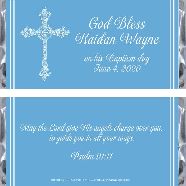 Baptism Cross Candy Wrapper