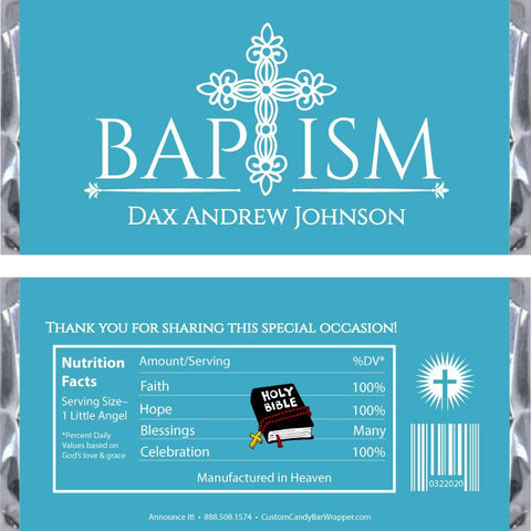 Baptism Candy Wrappers – Announce It!