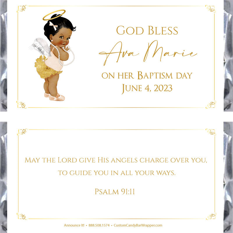 Angel Girl Baptism Candy Wrapper