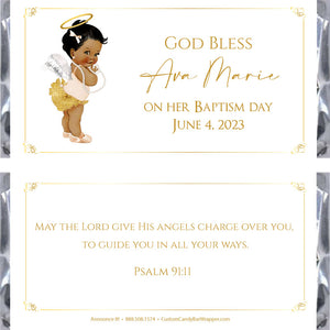 Angel Girl Baptism Candy Bar Wrappers