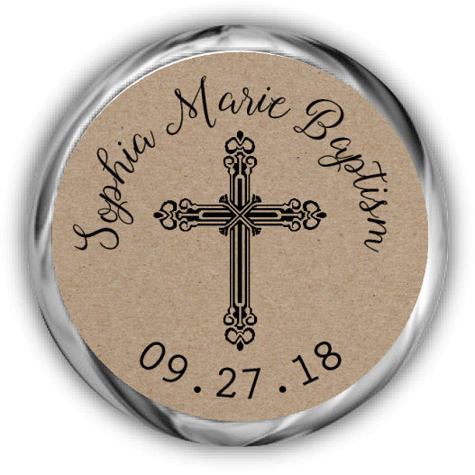 Kraft Baptism Kisses Stickers