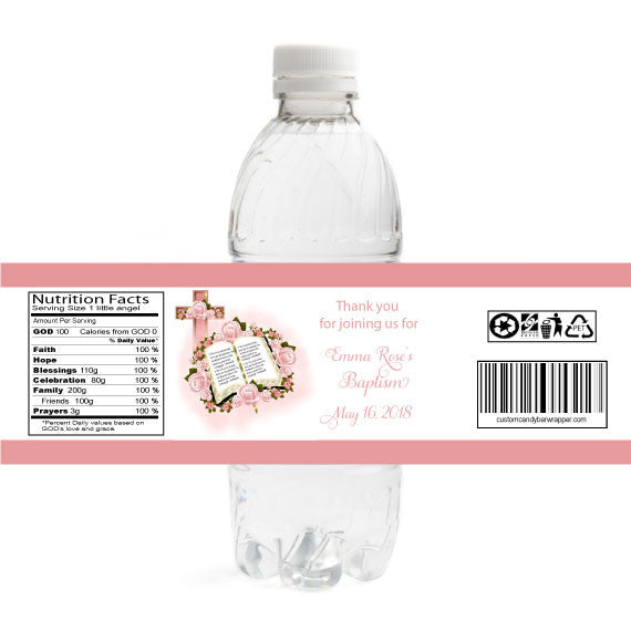 Bible Christening Bottle Label