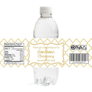 Elegant Christening Bottle Label