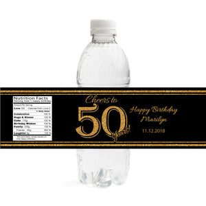Cheers to Birthday Bottle Label