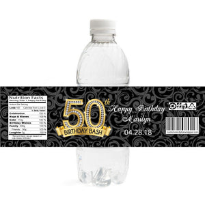 Diamond 50th Birthday Bottle Label