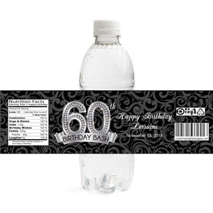 Diamond 60th Birthday Bottle Label