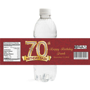 Diamond 70th Birthday Bottle Label