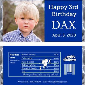 Photo Birthday Candy Bar Wrapper