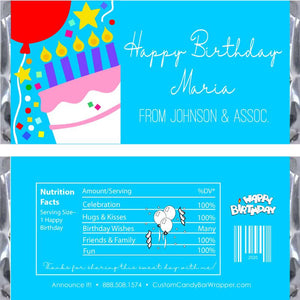 Cake Birthday Candy Bar Wrappers