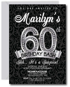 Diamond 60th Birthday Invitation