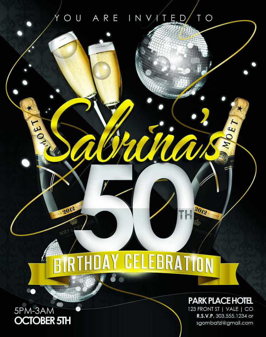 50th Birthday Party Invitations Announce It