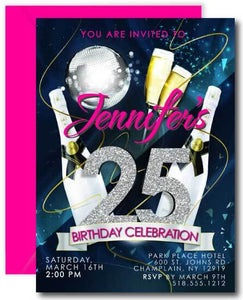 25th Birthday Party Invitations