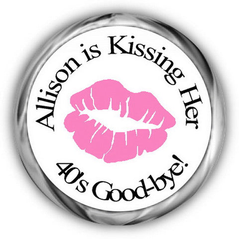 Kissing Lips Birthday Kisses Stickers
