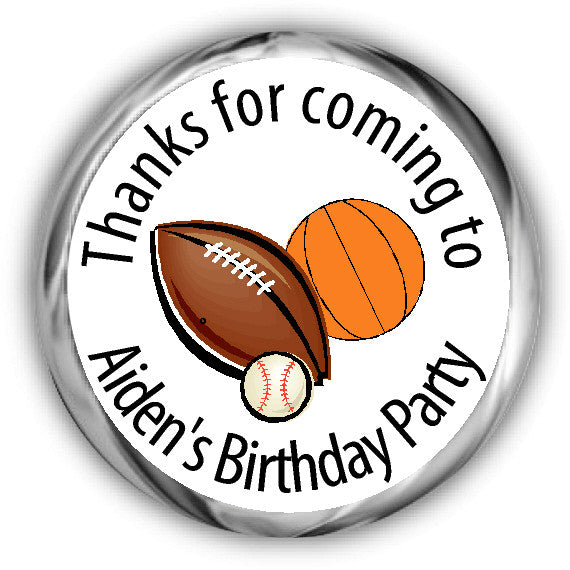 Sports Birthday Kisses Stickers