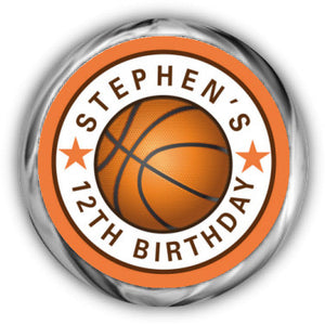 Basketball Birthday Kisses Sticker