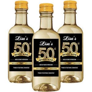 Diamond 50th Birthday Mini Wine Label