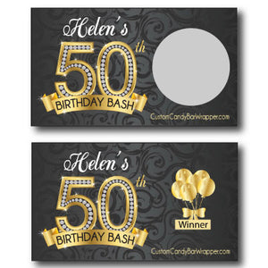 50th Birthday Scratch Off Cards
