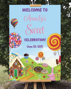 Candy Land Birthday Welcome Sign