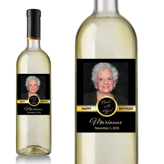 Photo Birthday Wine Labels