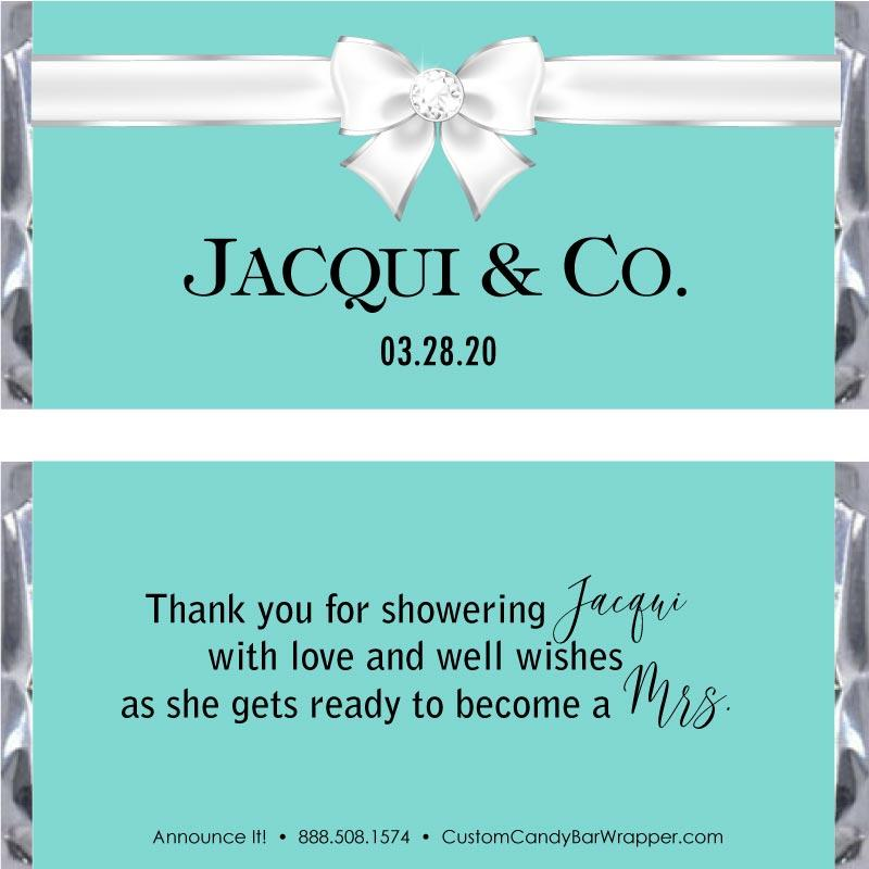 Bride and Co. Bridal Shower Candy Bar Wrapper