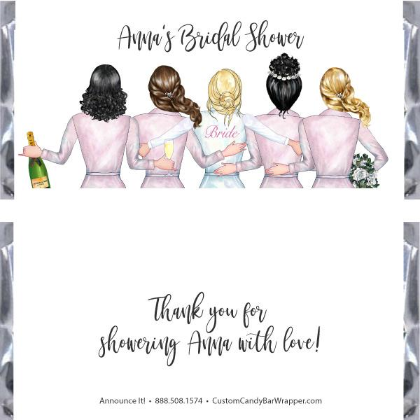 Bride Tribe Bridal Shower Candy Bar Wrapper
