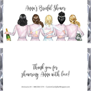 Bride Tribe Bridal Shower Candy Bar Wrappers