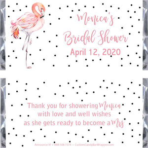 Flamingo Bridal Shower Candy Bar Wrappers