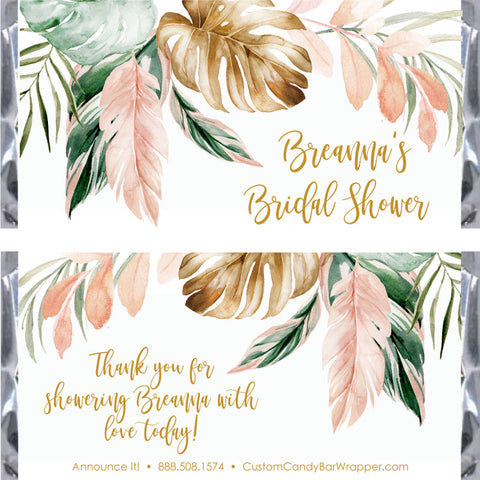 Tropical Bridal Shower Candy Bar Wrappers