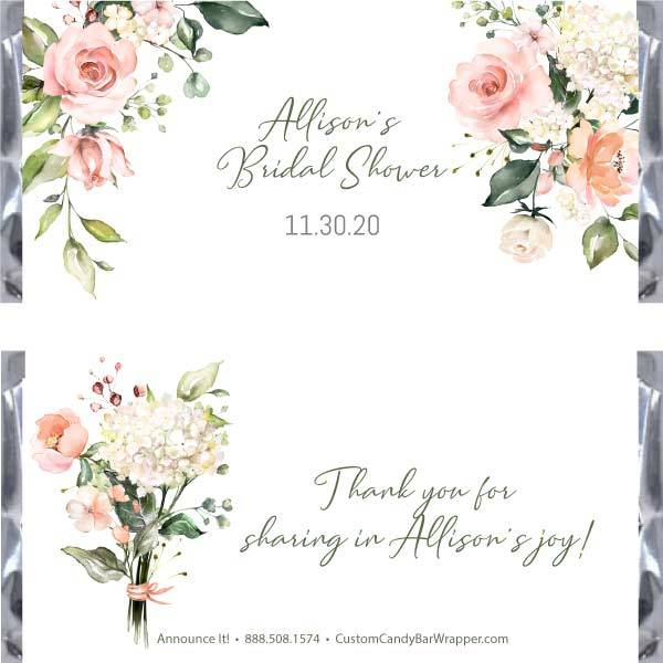 Blooms Bridal Candy Bar Wrappers