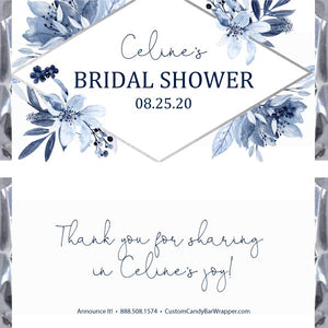 Navy Bridal Shower Candy Bar Wrapper
