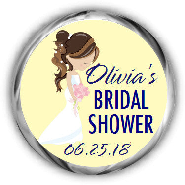 Blushing Bride Bridal Shower Kisses Sticker