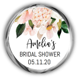 Hydrangea Bridal Shower Kisses Stickers