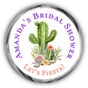 Fiesta Bridal Shower Kisses Stickers