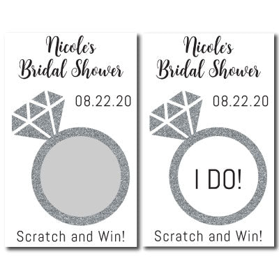 Bridal Shower Scratch Off Cards