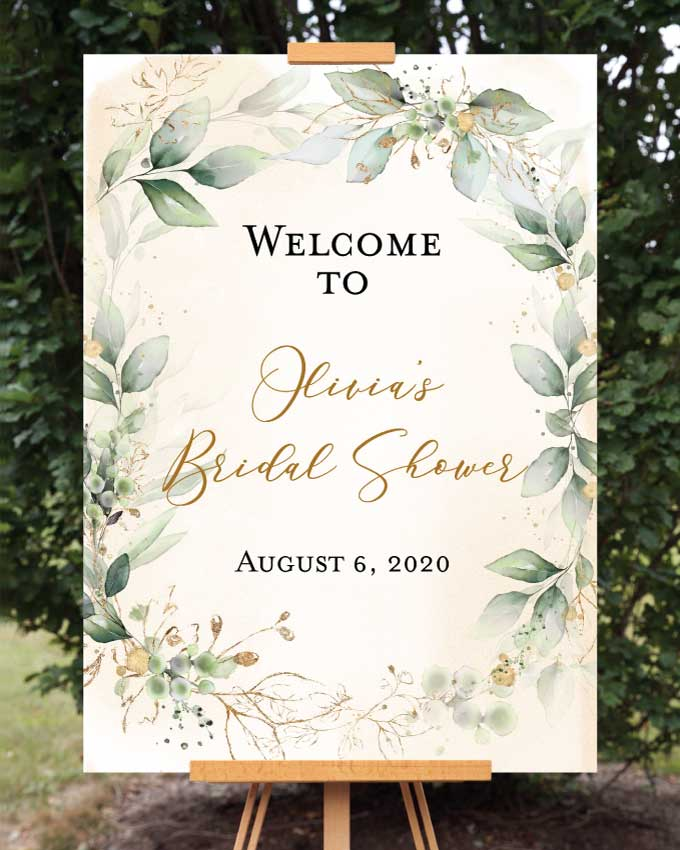 Garden Bridal Shower Welcome Sign