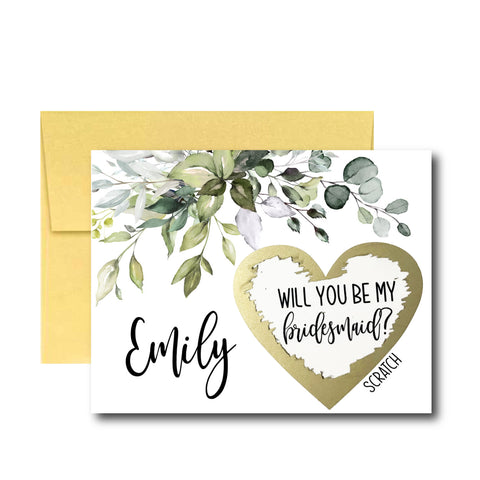 Will You Be My Bridesmaid Scratch Off Cards