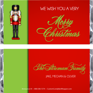 Nutcracker Christmas Candy Bar Wrappers