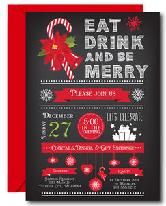 Merry Christmas Party Invitations