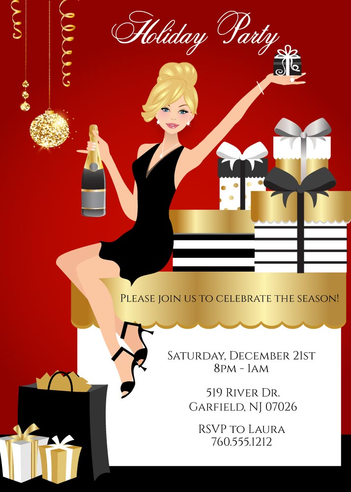 Elegant Christmas Party Invitations – Announce It!