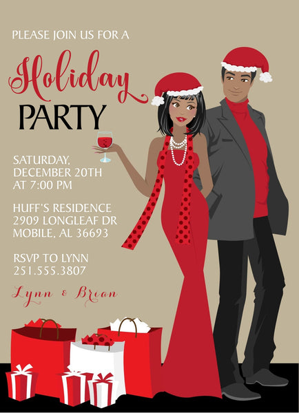 Couples Christmas Party Invitations - Blonde
