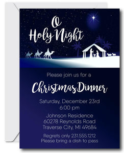 Nativity Christmas Invitations
